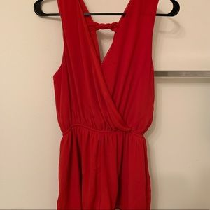 Red romper size small
